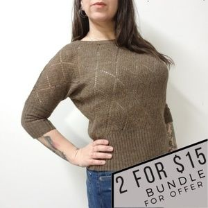 LINEAMAGLIA Italian Wool Alpaca Sweater Anthro